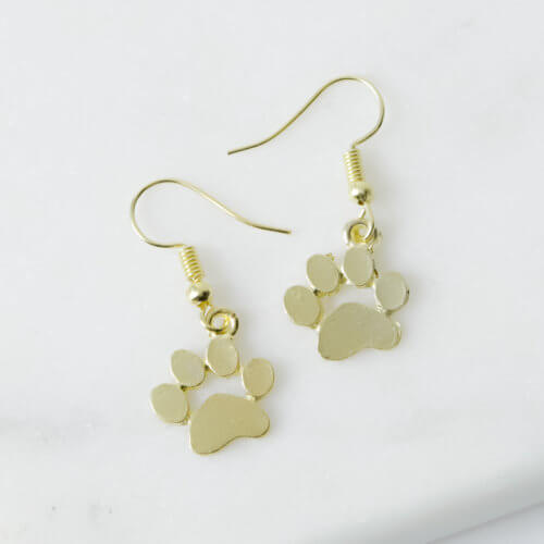 My Favorite Little Paws Gold Dangle Earrings