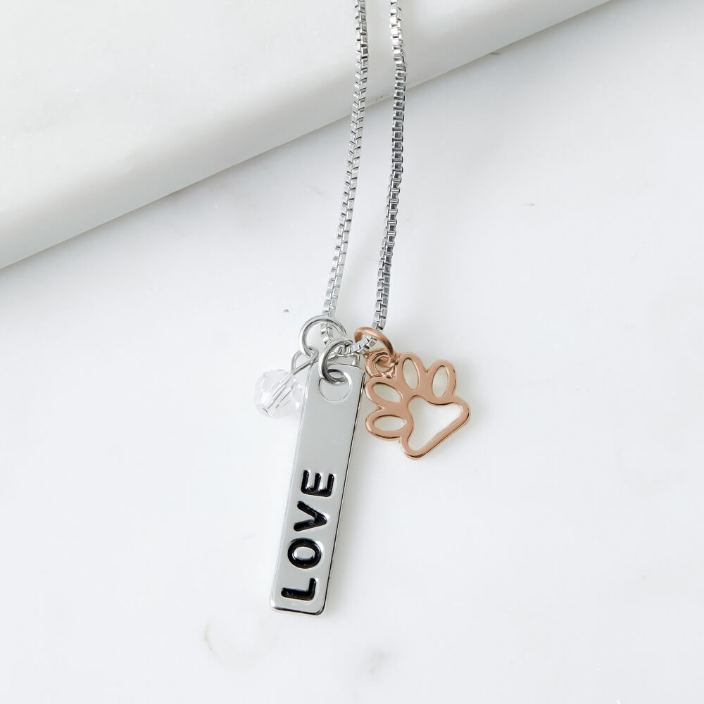 6b39853dc5be1 Foundation of LOVE Three Charm Necklace