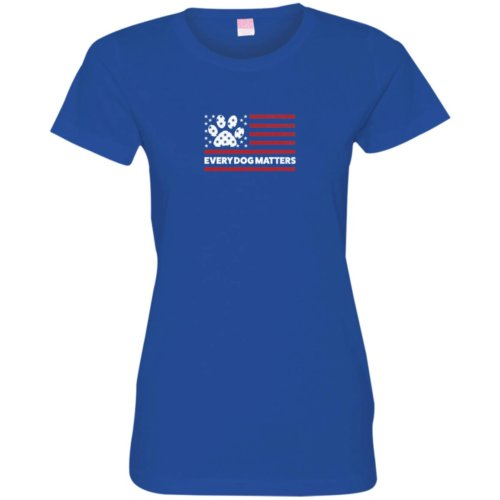 Every Dog Matters Flag Fitted Tee