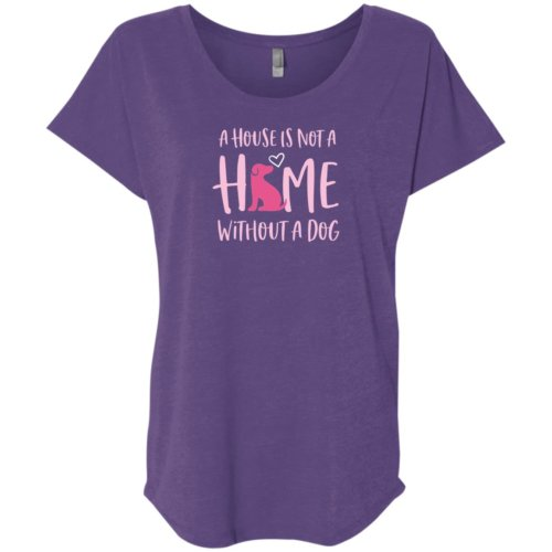 A House Is Not A Home Without A Dog Slouchy Tee