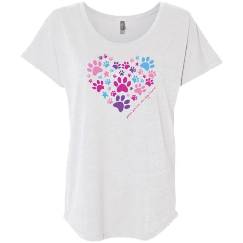 Paw Prints On My Heart Slouchy Tee