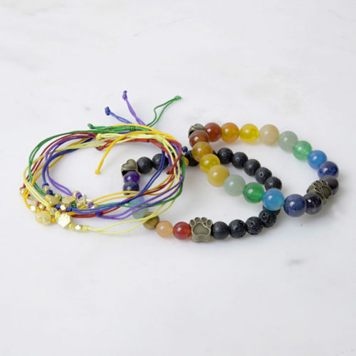 Always With You Rainbow Bridge Memorial Bracelet Set
