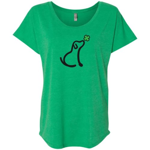 Limited Edition St. Patrick's I Really Love This Dog Slouchy Tee Green