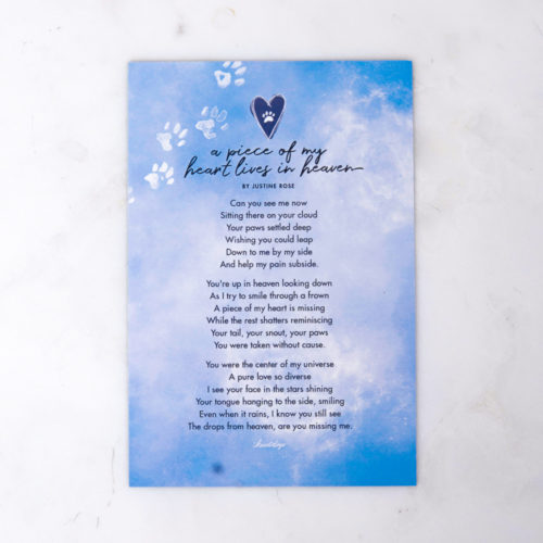 A Piece Of My Heart Lives In Heaven Memorial Magnet
