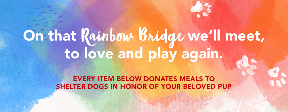 Pet Memorial Gifts - Each Item Sold Provides Donated Meals to Shelter Dogs