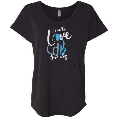 Love This Dog Slouchy Tee Black