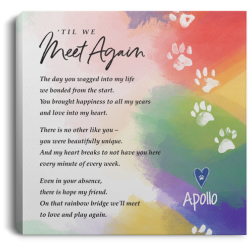 'Til We Meet Again Personalized Canvas Print