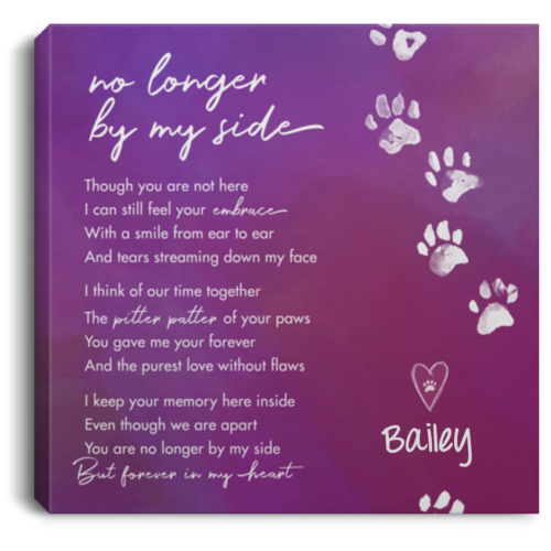 No Longer By My Side Personalized Canvas Print