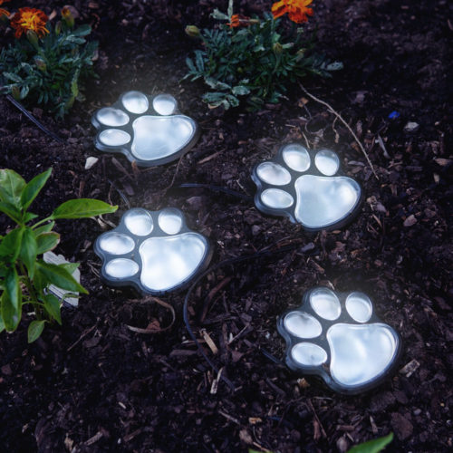 Miracles in Motion Path To My Heart Paw Prints Solar Garden Lights