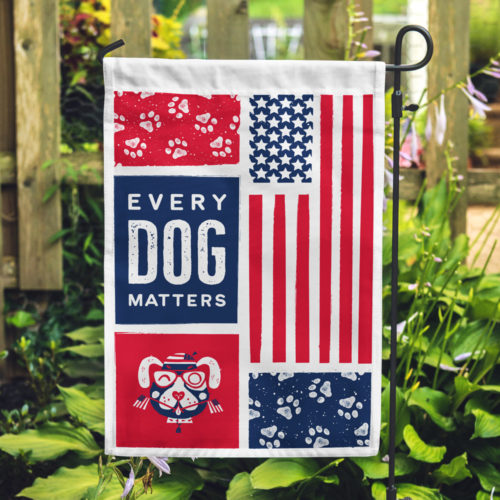 Every Dog Matters Garden Flag