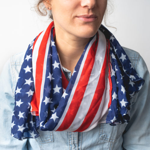 All American Flag Long Scarf