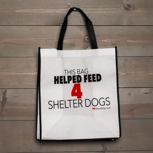 Grocery Bag Help Feed 4 Shelter Dogs - Black Trim