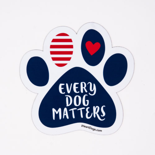 Every Dog Matters Paw Car Magnet