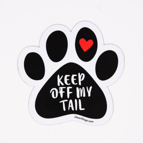 Get Off My Tail Paw Car Magnet