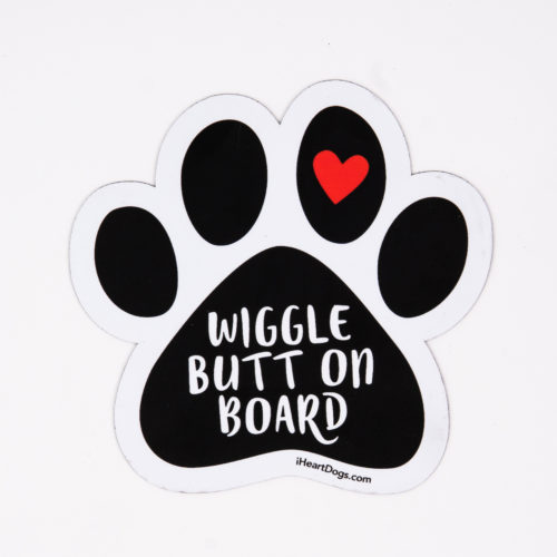 Wiggle Butt On Board Paw Car Magnet