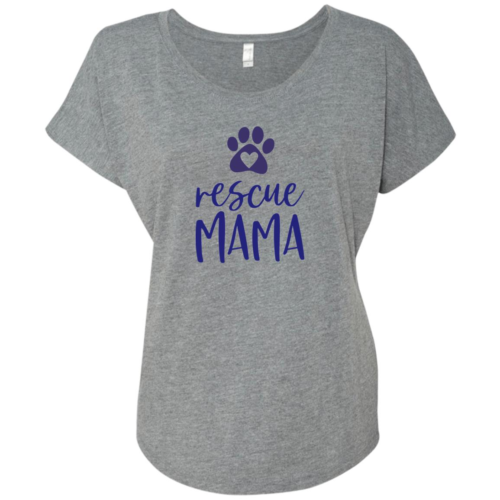 Rescue Mama Slouchy Heather Grey Tee