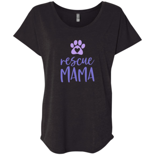 Rescue Mama Slouchy Black Tee