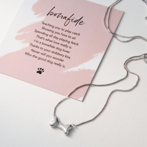 Limited Edition Bonafide Dog Lover Sterling Silver Necklace