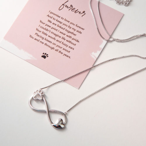 A Christmas Miracle Limited Edition Furever In My Heart Infinity Sterling Silver Necklace