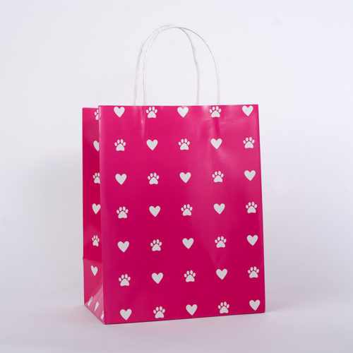 Pretty In Pink Love Paws Gift Bag