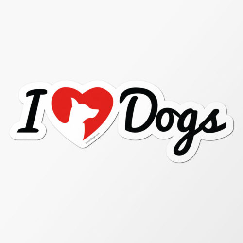 iHeartDogs Logo Car Magnet
