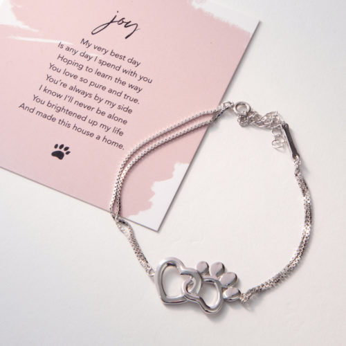 The Miracle Of Love Limited Edition My Dog Brings Me Joy Sterling Silver Bracelet