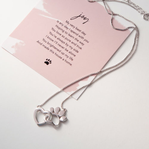The Miracle Of Love Limited Edition My Dog Brings Me Joy Sterling Silver Necklace