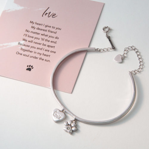 A Christmas Miracle Limited Edition Love Sterling Silver Cuff Bracelet