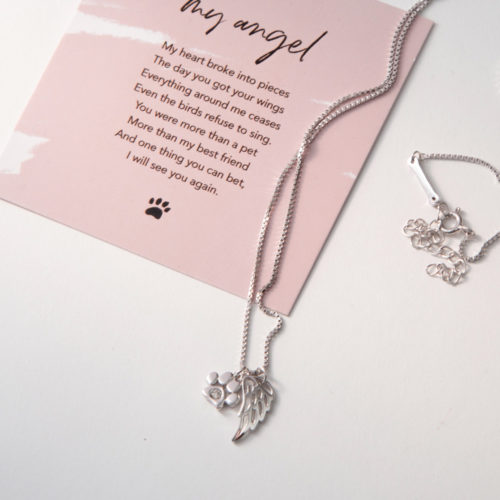 The Miracle Of Love Limited Edition My Angel Sterling Silver Necklace