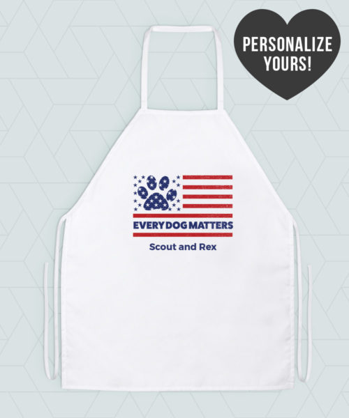 Every Dog Matters Flag Personalized Apron