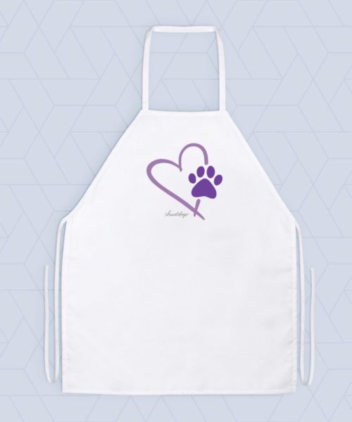 Paw In My Heart Apron