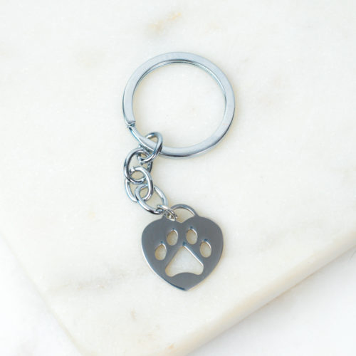 "Special Offer! ""Always With Me"" Heart Paw Keychain"