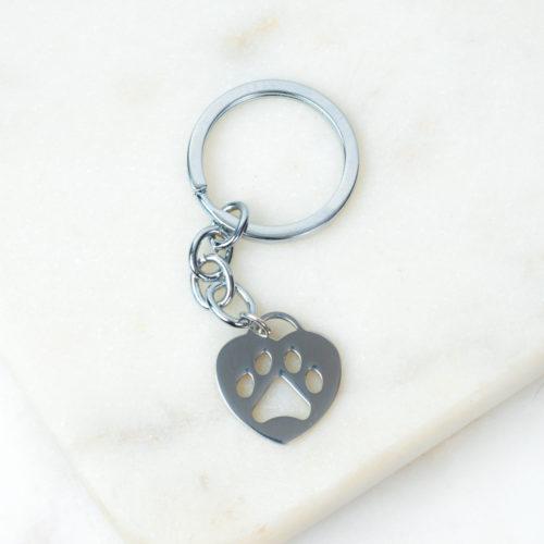 """""""Always With Me"""" Heart Paw Keychain"""