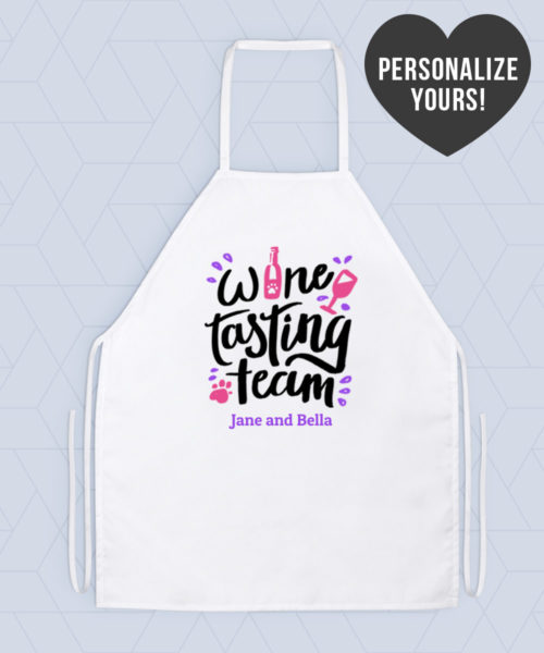 Wine Tasting Team Personalized Apron