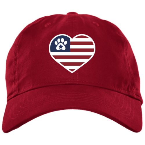 True American Love Paw Red Dog Mom Hat