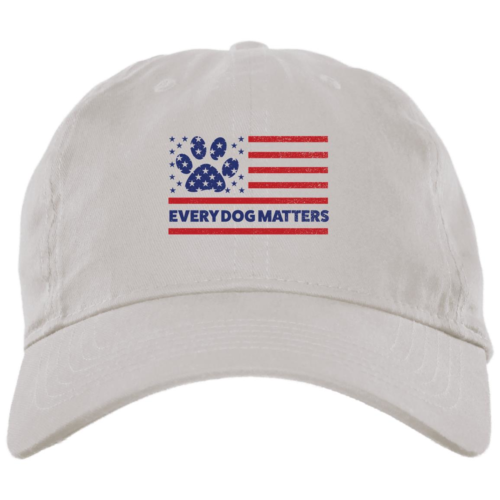 Every Dog Matters Flag White Dog Mom Hat