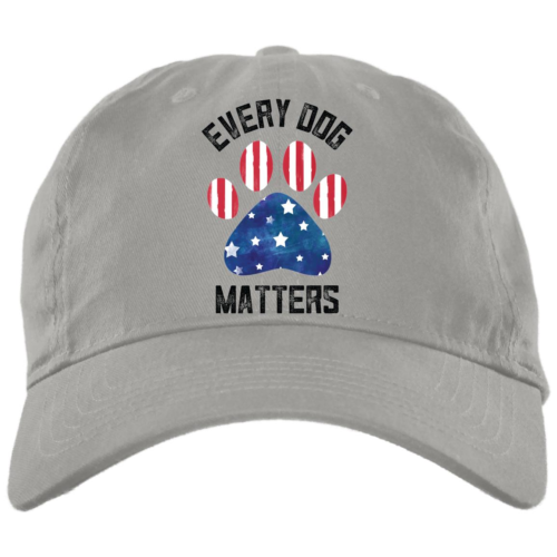 Every Dog Matters Flag Paw Light Grey Dog Mom Hat