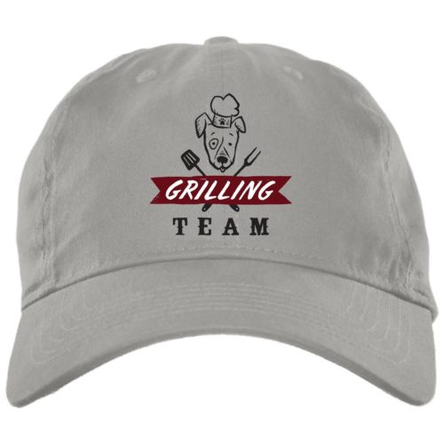 Grilling Team Light Grey Dog Dad Hat
