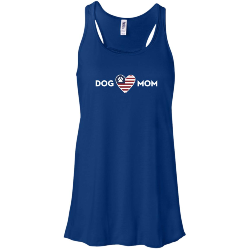 Proud USA Dog Mom Flowy Royal Tank