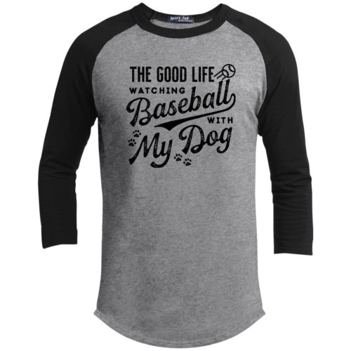 The Good Life Baseball 3/4 Sleeve Heather Grey Baseball Shirt