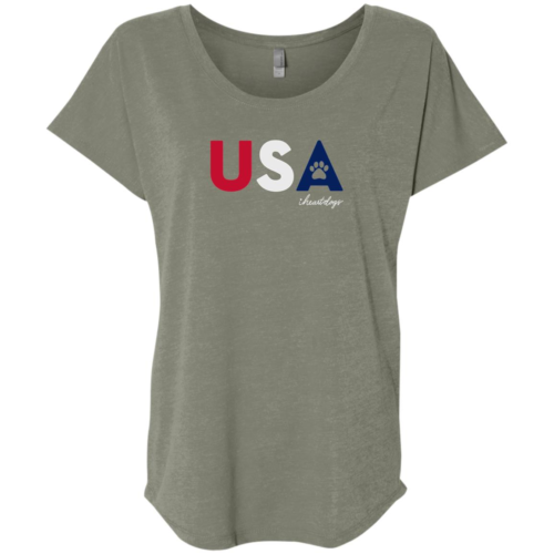 PAWS For The USA Slouchy Venetian Grey Tee