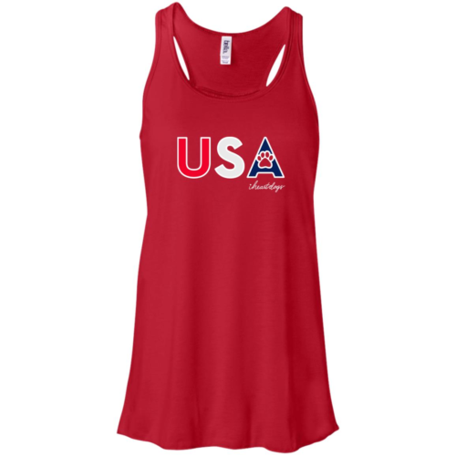 PAWS For The USA Flowy Red Tank