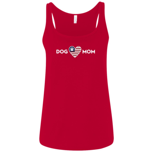 Proud USA Dog Mom Relaxed Fit Red Tank