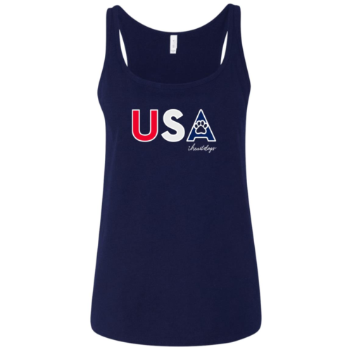 PAWS For The USA Relaxed Fit Navy Tank