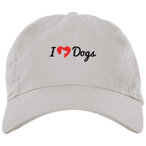 iHeartDogs Logo White Dog Mom Hat