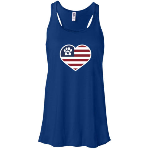 True American Love Paw Flowy Royal Tank