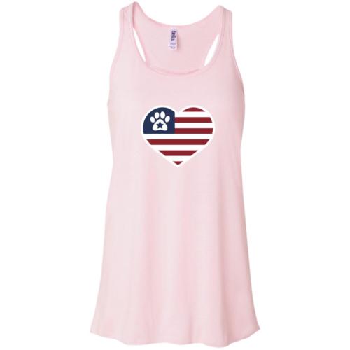 True American Love Paw Flowy Pink Tank
