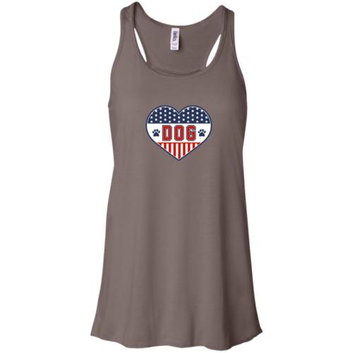 U.S.A. D.O.G. Flowy Brown Tank