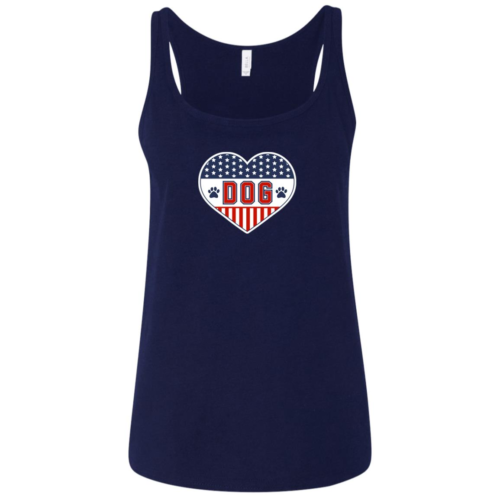 U.S.A. D.O.G. Relaxed Fit Navy Tank
