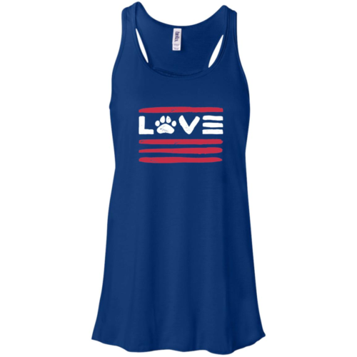 Love Paws And Stripes Flowy Royal Tank